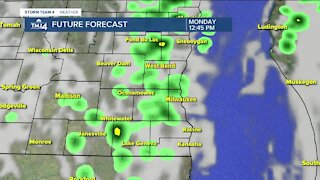 Rain expected Monday afternoon