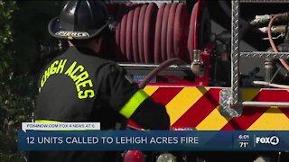 12 units respond to Lehigh Acres brush fire
