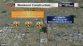 Weekend traffic restrictions around the Valley