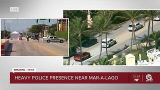 BREAKING: Heavy police presence near Mar-a-Lago