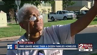 Fire leaves more than a dozen families homeless