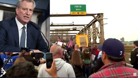 NYC mayor gives city workers an ultimatum, city workers confront mandate by protesting
