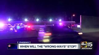 Wrong-way driver crashes in north Phoenix