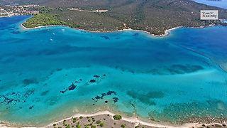 Drone captures tropical paradise of Petalioi, Greece
