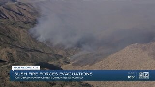Bush Fire forces evacuations as it continues to spread