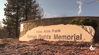 Racist vandalism at the Idaho Anne Frank Human Rights Memorial