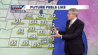 Record-breaking cold Wednesday