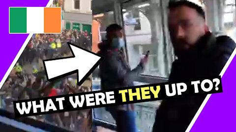 IRELAND Undercover POLICE Caught Filming PROTEST Hugo Talks #lockdown