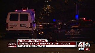 Police shoot, kill suspect after distubance