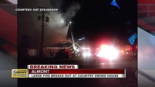 Large fire breaks out at Country Smoke House