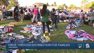 Drive-thru distribution held for families in Lake Worth Beach