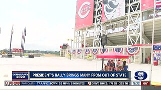 President's rally brings many from out of state
