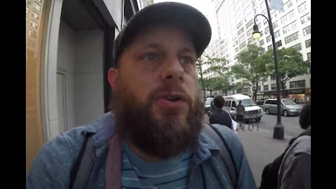 Man who is able to talk backwards WOWs strangers on the streets of NYC