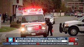Active shooter investigation at Memorial Hospital