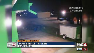 Police search for trailer thief in Cape Coral