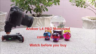 Andoer L4 PRO Motorized camera video Watch before you buy