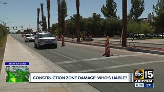 Construction zone damage: Who's liable?