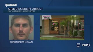 Homeless man charged with two armed robberies