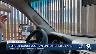 Border wall construction underway on Southern Arizona ranch