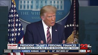 New York Times report reveals President Trump paid $750 in federal income taxes