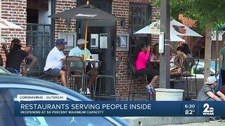 Restaurants reopening at 50 percent maximum capacity