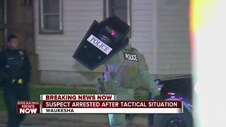Suspect arrested after tactical situation in Waukesha