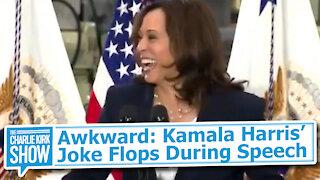 Awkward: Kamala Harris Joke Flops During Speech