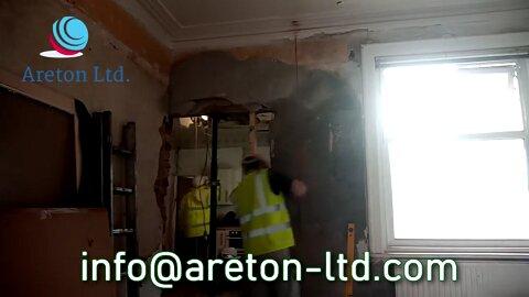 Door wall remodeling and home kickstart work