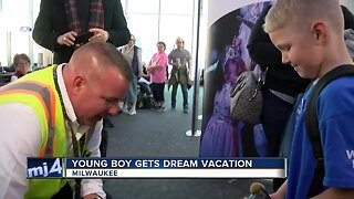 Young boy gets dream vacation
