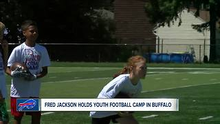 Fred Jackson holds youth football camp
