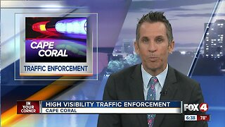 Cape Coral Police Department conducts high visibility traffic enforcement operation