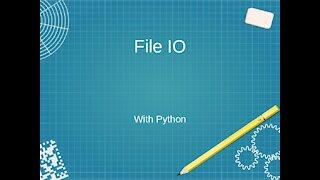 File IO with Python