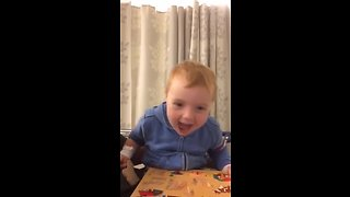 Hysterical toddler super high on pre-surgery meds