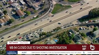 Shooting along westbound 94 closes road