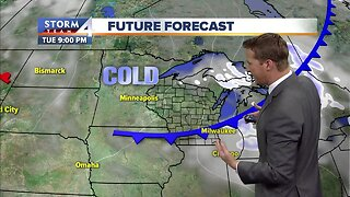 Chance of flurries Tuesday afternoon