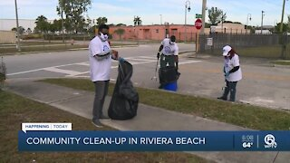 Community clean up in Riviera Beach on Friday