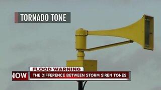 Difference between storm siren tones