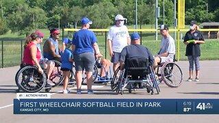 First wheelchair softball field in park