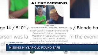 Missing, endangered teen found safe