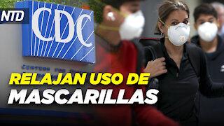 CDC relajan uso de mascarillas para personas vacunadas; Kerry enfrenta peticiones de renuncia   NTD