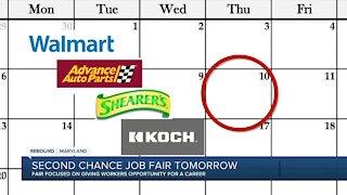 Second chance job fair tomorrow