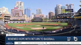 Renewed hope with return of Padres baseball