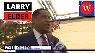 Larry Elder Makes Closing Argument In California Recall Election