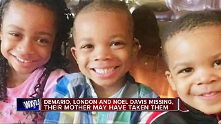 Police looking for 3 missing siblings, believed to be with non-custodial mother