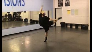 En veldig uvanlig, men talentfull danser!