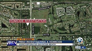 Homicide investigated in western Boynton Beach
