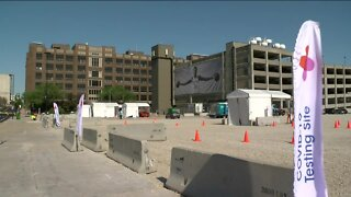 COVID-19 testing continues at site of former BMO Harris Bradley Center