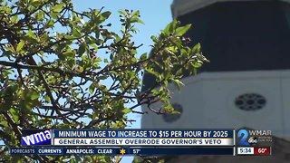 Maryland passes bill for $15 minimum wage