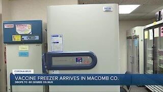 Vaccine freezer arrives in Macomb County