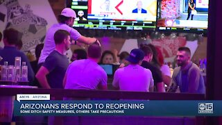 Arizonans respond to reopening, some ditch safety measures, others take precautions